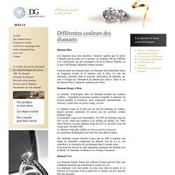 Caractéristiques des diamants et leurs couleurs
