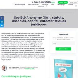 Société Anonyme (SA): statuts, associés, capital, caractéristiques juridiques