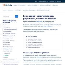Le sondage : caractéristiques, préparation, conseils et exemple