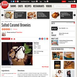 Salted Caramel Brownies Recipe : Paula Deen