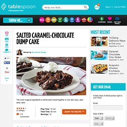 Salted Caramel-Chocolate Dump Cake recipe