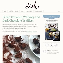 Salted Caramel, Whiskey and Dark Chocolate Truffles