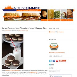 Salted Caramel and Chocolate Stout Whoopie Pies