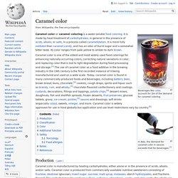 WIKIPEDIA – Caramel color.