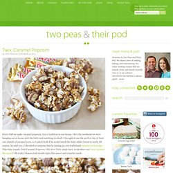 Twix Caramel Popcorn Recipe | Caramel Popcorn Recipe | Two Peas & Their Pod