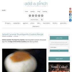 Salted Caramel Thumbprints Cookies Recipe