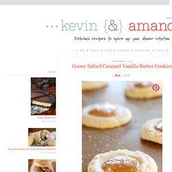 Gooey Salted Caramel Vanilla Butter Cookies