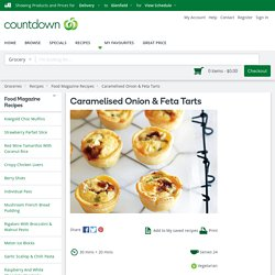Caramelised Onion & Feta Tarts Recipe - Quick and easy at countdown.co.nz