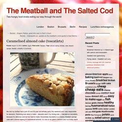 Caramelised almond cake (toscatårta)
