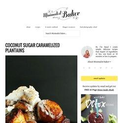 Coconut Sugar Caramelized Plantains