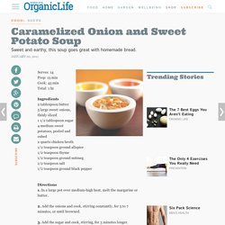 Caramelized Onion and Sweet Potato Soup