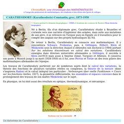 Caratheodory Constantin