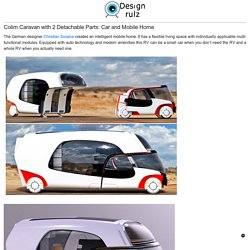 Colim Caravan with 2 Detachable Parts: Car and Mobile Home