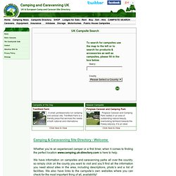 Camping and Caravanning UK Campsites - Directory and Camping Equ