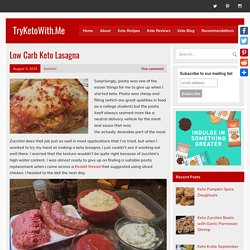 Low Carb Keto Lasagna - TryKetoWith.Me
