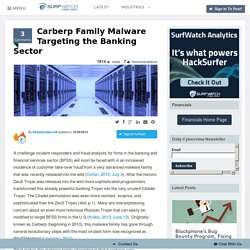 Carberp Family Malware Targeting the Banking Sector -HackSurfer