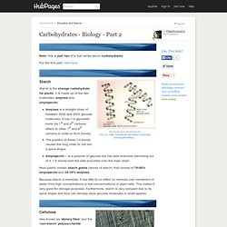 Carbohydrates - Biology - Part Two
