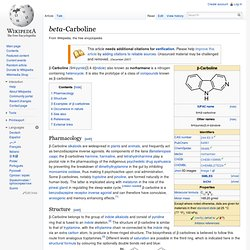 1.1.3.2.2 Simple Derivatives of β-carboline