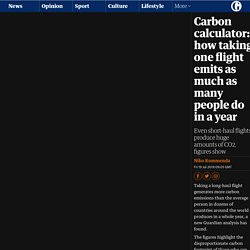Carbon calculator: how taking one flight emits as much as many people do in a year