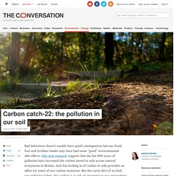 Carbon catch-22: the pollution in our soil