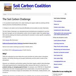 The Soil Carbon Challenge