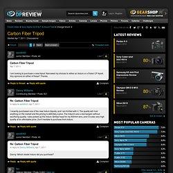 Carbon Fiber Tripod [Page 1]: Sony SLR Talk Forum