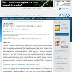 PNAS 07/05/08 Carbon dioxide sequestration in deep-sea basalt