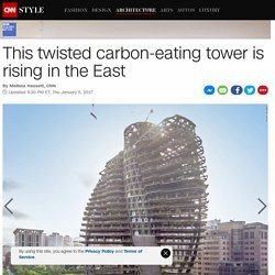 The carbon-eating tower is rising in the East