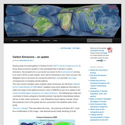 Carbon Emissions - an update