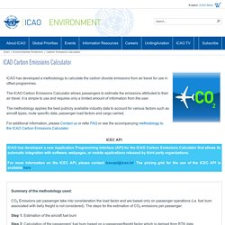 ICAO Carbon Emissions Calculator