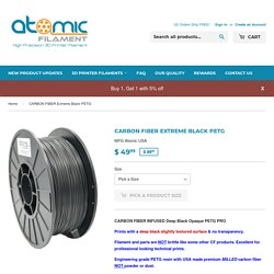CARBON FIBER Extreme Black PETG – Atomic Filament