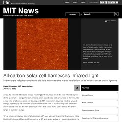 All-carbon solar cell harnesses infrared light