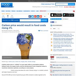 Carbon price would result in food costs rising 3%