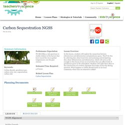 Carbon Sequestration NGSS
