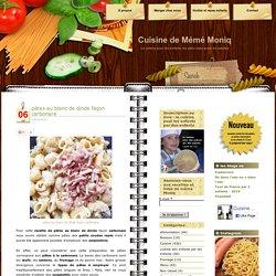 pâtes au blanc de dinde façon carbonara - Cuisine de Mémé MoniqCuisine de Mémé Moniq