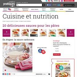 En étapes: la sauce carbonara - En étapes - Cuisine et nutrition