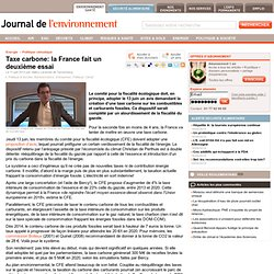 Taxe carbone: la France fait un deuxième essai