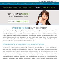 Carbonite Contact Help Phone Number