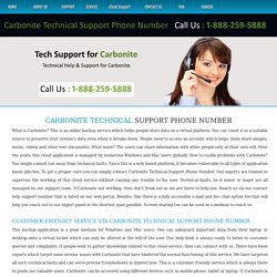 Carbonite Tech Support Phone Number
