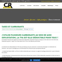 Taxes et carburants - Coordination Rurale (CR)