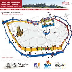 Plan interactif de la cité de Carcassonne - Editions SCEREN CRDP Montpellier
