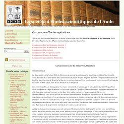 Carcassonne Toutes opérations - La société d'études scientifiques de l'Aude