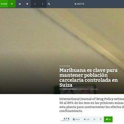 Marihuana es clave para mantener población carcelaria controlada en Suiza - VeoVerde