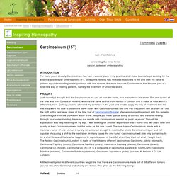 Carcinosinum - Inspiring Homeopathy- homeopathie, vaccinatie en autisme website Tinus Smits, arts.