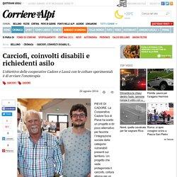 Carciofi, coinvolti disabili e richiedenti asilo - Cronaca - Corriere delle Alpi