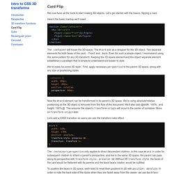 Card Flip · Intro to CSS 3D transforms › Docs