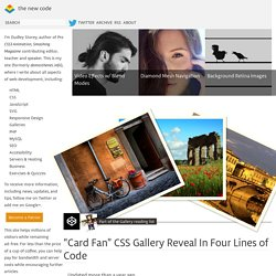 """Card Fan"" CSS Gallery Reveal In Four Lines of Code"