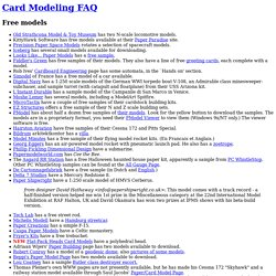 Card Modeling FAQ: Free Models