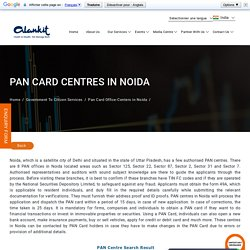 PAN Card Office Centers in Noida