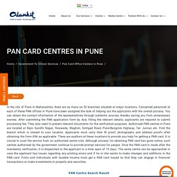 PAN Card Office Centers in Pune